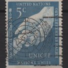 United Nations 1951 - Scott 5 used - 5c,  UN Children's Fund  (B-767)