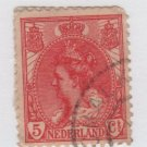 Netherlands 1898 - Scott 65 used - 5c, Queen Wilhelmina  (B-771
