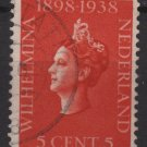 Netherlands 1938 - Scott 210 used - 5c Queen Wilhelmina  (B-716)