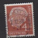 Germany 1954 - Scott 703 used  - 4 pf, Pres. Theodor Heuss (F-260)
