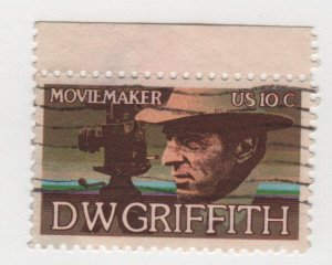 USA 1975 - Scott 1555 used - 10c, D W Griffith, movie maker (i-111)