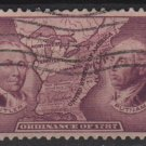 USA 1937 - Scott 795 used - 3c, Northwest Ordinance  (C-245)