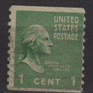 USA 1939 - Scott 839 used - 1c Washington, Perf. Vertically  (H-655)
