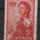 Canada 1959 - Scott 386 used  -5c, Elizabeth II (D-399)