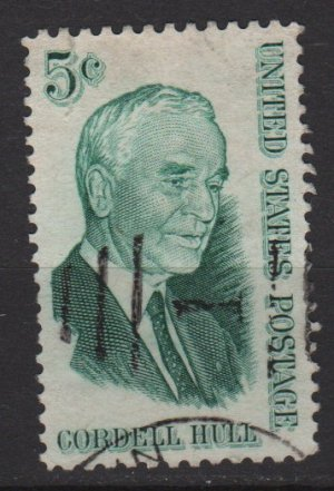 USA 1963 - Scott 1235 used - 5c, Cordell Hull  (H-539)