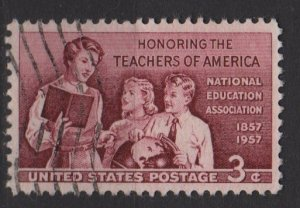 USA 1957 - Scott 1093 used - 3c, School Teachers  (J-546)