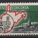 USA 1963 -Scott 1232 used- 5c, West Virginia Statehood Cent.  (H-536)