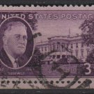 USA 1945 - Scott 932 used - 3c, Roosevelt & White House   (H-441)