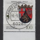 Germany 1992 - Scott 1709 CTO -Coats of Arms Rheinland Pfalz  (G-65)