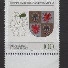 Germany 1992- Scott 1706 MNH- Mecklenburg Western Pomerania (G-67)