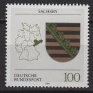 Germany 1992 - Scott 1711 MNH - Coat of Arms Saxony, Sachsen  (P-281)