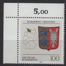 Germany 1992 - Scott 1713 MNH - Arms Schleswig Holstein   (P-326)