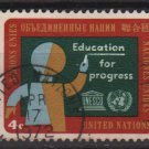 United Nations 1964 - Scott 134 used- Education for progress   (L-603)