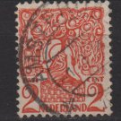 Netherlands 1923 - Scott 114 used - 2c, Orange tree & Lion Brabant (P-487)