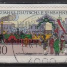Germany 1985 - Scott 1450 used - 80pf, Johannes Scharrer, Railways    (7-15)