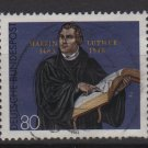 Germany 1983 - Scott 1406 used - 80pf, Martin Luther   (7-6)