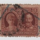 Newfoundland 1929 - Scott 165 used- 3c, Queen Mary & George V  (Ru-323)