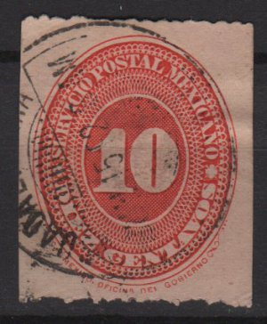 Mexico 1887 - Scott 187 used - 10c, Numeral (R-655)