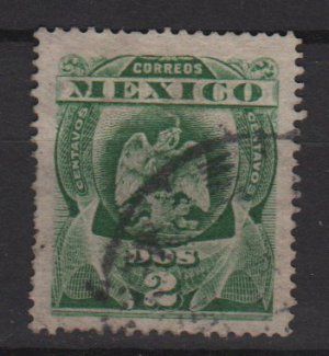 Mexico 1903  - Scott 305 used - 2c, Coat of Arms (Co-544)