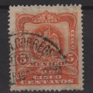 Mexico 1903  - Scott 307 used - 5c, Coat of Arms (Ra-385)