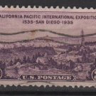 USA 1935 - Scott 773 used- 3c, California Pacific Exposition (H-524)