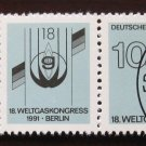 Germany 1991 - Scott 1648a strip 2 + label CTO - 18th World Gas Congress Berlin (3696*)
