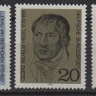 Germany 1970 - Scott 1014-1016 (3) MNH - Portraits (Co-722)