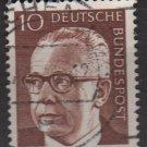 Germany 1970 - Scott 1029 used - 10 pf, Pres. G. Heinemann (Q-218)