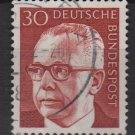 Germany 1970 - Scott 1031 used - 30 pf, Pres. G. Heinemann (R-650)