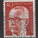 Germany 1970 - Scott 1032 used - 40 pf, Pres. G. Heinemann (Ra-487)