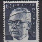Germany 1970 - Scott 1034 used - 60 pf, Pres. G. Heinemann (Ra-526)