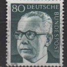 Germany 1970 - Scott 1036 used - 80 pf, Pres. G. Heinemann (Red - 47)