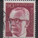 Germany 1970 - Scott 1037 used - 90 pf, Pres. G. Heinemann (Red - 115)