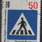 Germany 1971 - Scott 1058 used - 50pf, New traffic Rules  (T-8)