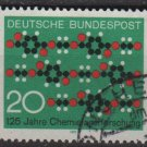 Germany 1971 -Scott 1054 used- 20pf, Molecule diagram Textil  (S-228)