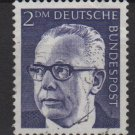 Germany 1970 - Scott 1044 used - 2m, Pres. G. Heinemann (S-144)
