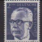 Germany 1970 - Scott 1044 used - 2m, Pres. G. Heinemann (S-144)