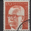 Germany 1970 - Scott 1042a used - 170 pf, Pres. G. Heinemann  (S-142)