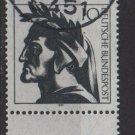 Germany 1971 - Scott 1073 CTO - 10 pf, Dante Alighieri, Poet (T-684)