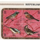 Burundi Airmail 1970 - Scott C134 block of 4 CTO, folded - 14 fr, Birds (C-297)