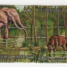 Burundi Airmail 1971 - Scott C149 , strip of 4 CTO, folded - 24fr, Animals (E-597)