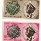BURUNDI 1963 - Scott 45 & 46 MNH - Peaceful use of outer Space  (Q-524)