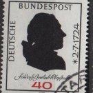 Germany 1974 - Scott 1143 used - 40pf, Friedrich Gottlieb Klopstock  (W-76)