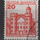 Germany 1977/79 - Scott 1232 used - 20pf, Pfaueninsel Castle (u - 246)