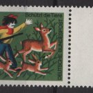 Germany 1971 -Scott B482 MNH- 25pf + 10pf, Animal protection  (Red-665)