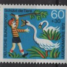 Germany 1971 -Scott B484 MNH- 60pf + 30pf, Animal protection (Red-782)