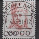 Germany 1986/91 - Scott 1491 CTO - 200 pf, Famous women, Bertha von Suttner(11-632)