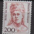 Germany 1986/91 - Scott 1491 MNH- 200 pf, Famous women, Bertha von Suttner(11-636)