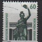 Germany 1987 - Scott 1525 used - 60 pf, Bronze statue, Bavaria Munich  (12-23)