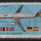 Germany 1988 - Scott 1552 used - 60 pf, Europa, Airbus (12-660)